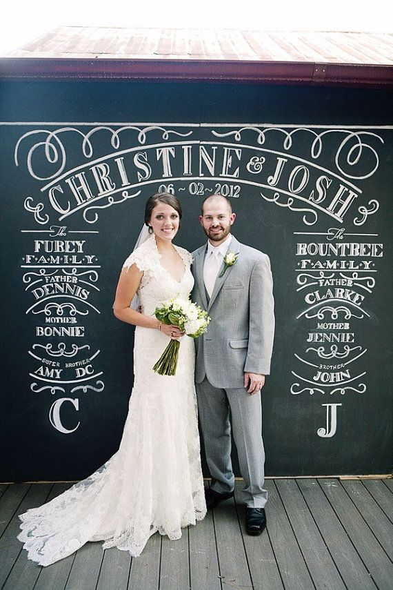 Classic Alabama Wedding With A Chalkboard Photobooth