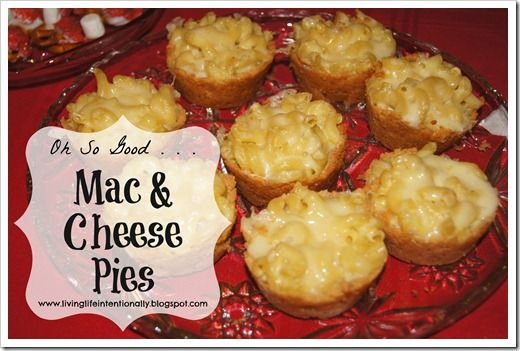 Oh yum! Can't wait to try these out on the kids :)  mac & cheese pies [Living Life Intentionally]