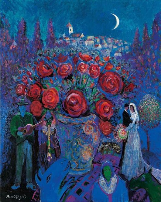 "Marc Chagall-This feels like ""Long Distance"" the phone call."