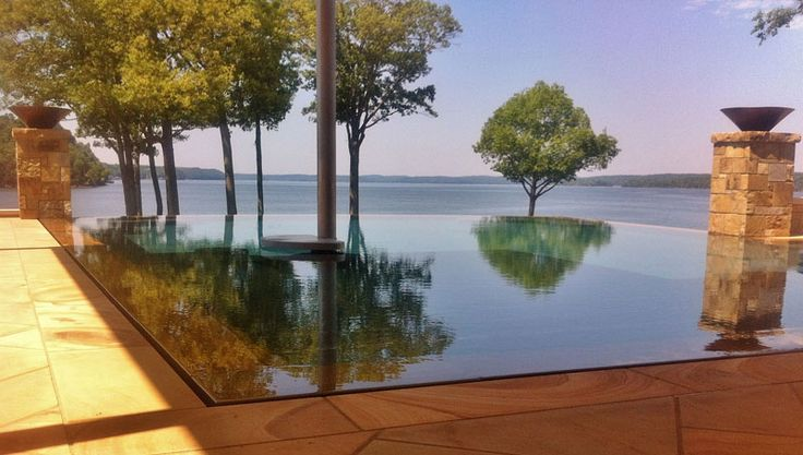 22 best infinity edge pools images on pinterest home for Overflow pool design
