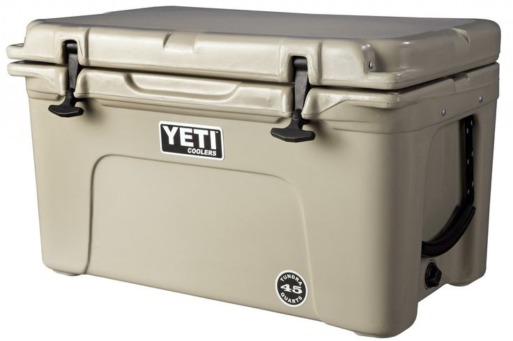 Yeti coolers - The Best!!  No camping trip is complete without one.....or two!!!