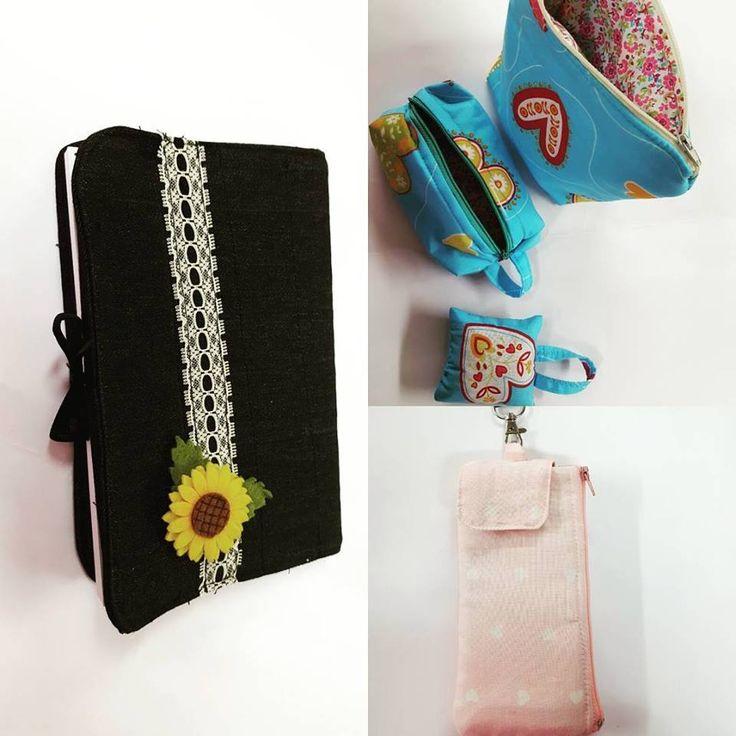 Capa de livro, bolsas e estojos, tudo a criar sonhos na nossa Escola de Costura Traços e Pontos
