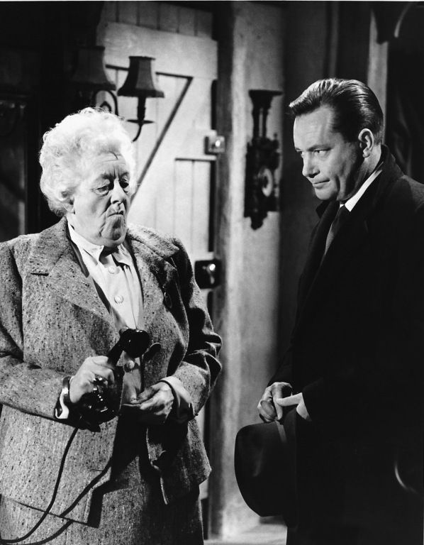 Margaret Rutherford and Charles (Bud) Tingwell in Murder Ahoy!, 1964