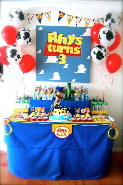 Toy Story Party, 3rd Birthday, Children's Party, Woody and Buzz