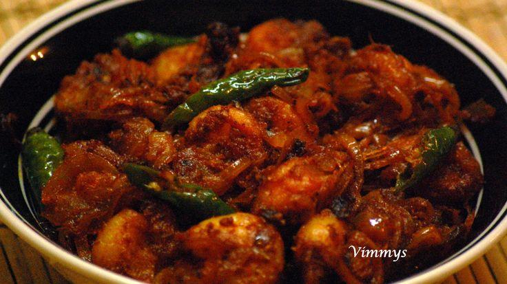 Prawn Roast recipe, Prawn Fry recipe, seafood recipe, prawns dry recipe, kerala cooking, kerala dishes, kerala recipes, kerala cuisine, south indian recipes, spicy seafood recipe