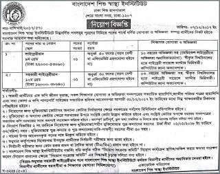 Bangladesh Institute of Child Health Job Circular    Bangladesh Institute of Child published (BICH) a New job vacancy Notice at The Daily N...
