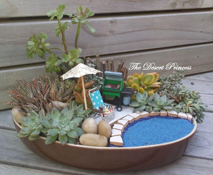 Succulent Fairy Garden Design by The Desert Princess www.facebook.com/thedesertprincess1006