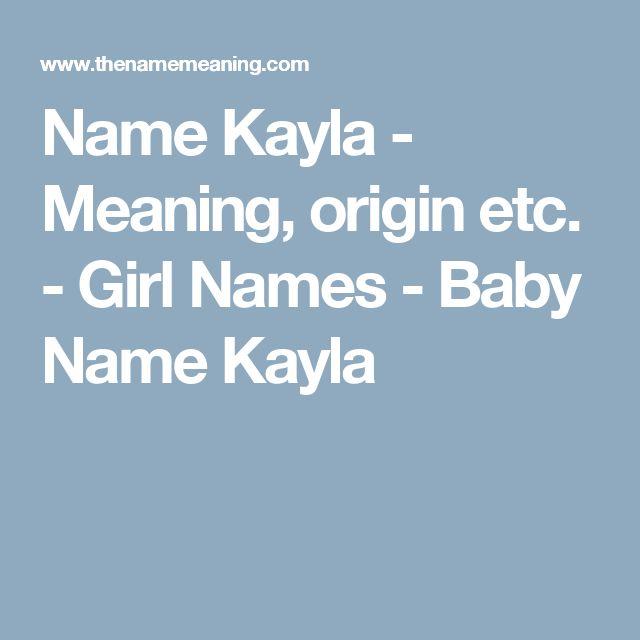 Name Kayla - Meaning, origin etc. - Girl Names - Baby Name Kayla