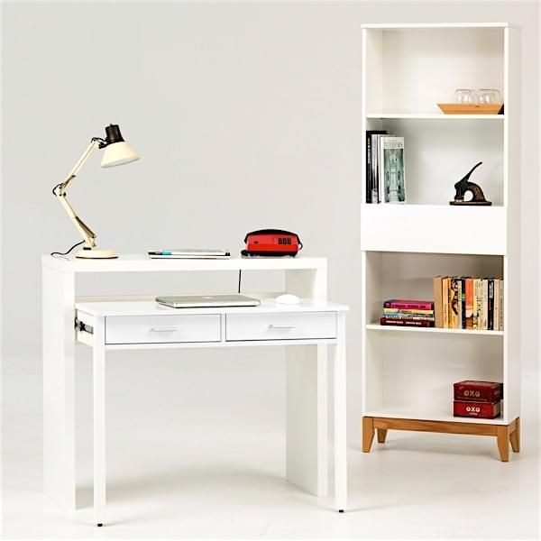 CONSOLE DESK   Pure White Painted Wood Or Oak, By Leonhard Pfeiffer    Convenient,
