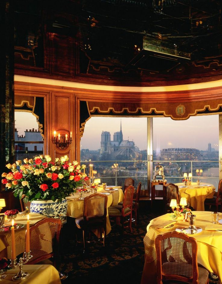 LA TOUR D'ARGENT • Paris, FRANCE • Legendary. One of the ultimate romantic dining experiences, this charming restaurant overlooks the Seine and Notre Dame. • 33 (1) 43 54 23 31 • www.latourdargent.com/