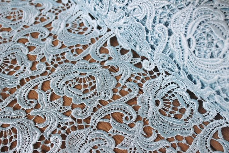 Designer Lace powder blue