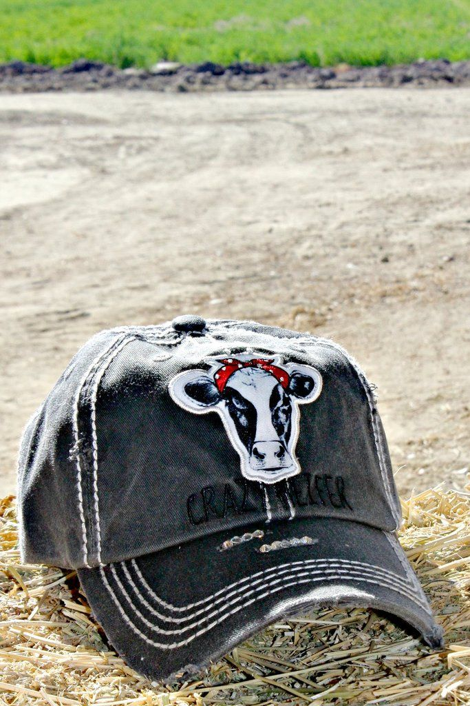 6638b91ce8d6cf Our Crazy Heifer trucker hat is a distressed, low profile style with an  adjustable back