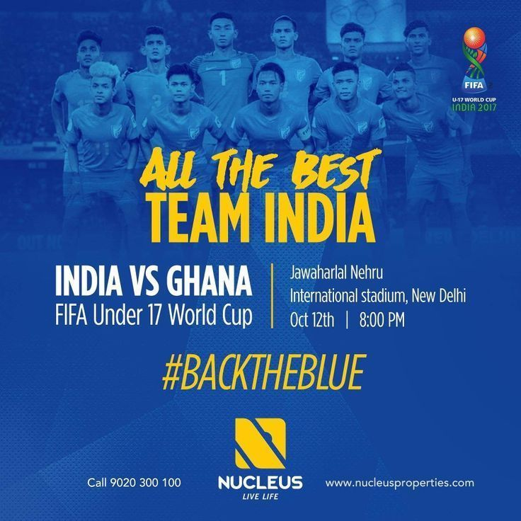 Wishing the Indian Football team all the best for their FIFA Under 17 World Cup ...