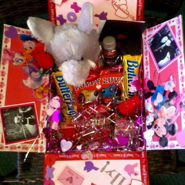 Hubby valentines care package from last year! Don't have to send one this year, cause I'm actually with him now!:)