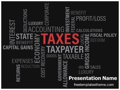 47 best free accounting and financial powerpoint ppt templates download free taxes powerpoint template for your powerpoint presentation toneelgroepblik Images