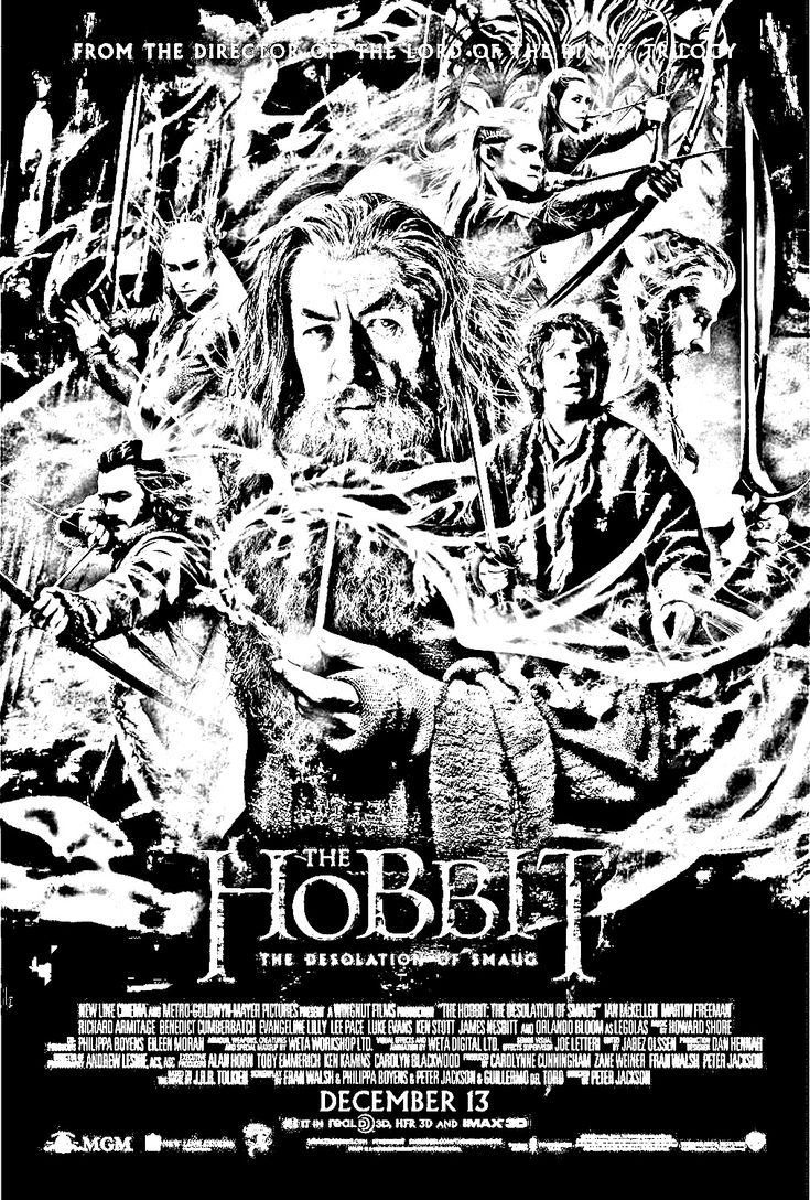 free coloring page coloring movie hobbit_la_desolation_de_smaug_poster_affiche the hobbit episod movie poster