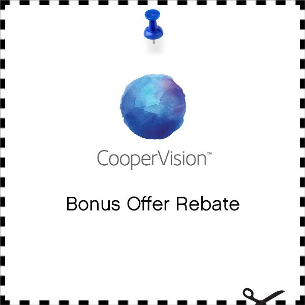 Save up to $85 via mail-in rebates when you purchase your annual supply of eligible CooperVision contact lenses from this practice. That's up to $25 more than the nationally available CooperVision mail-in rebate.