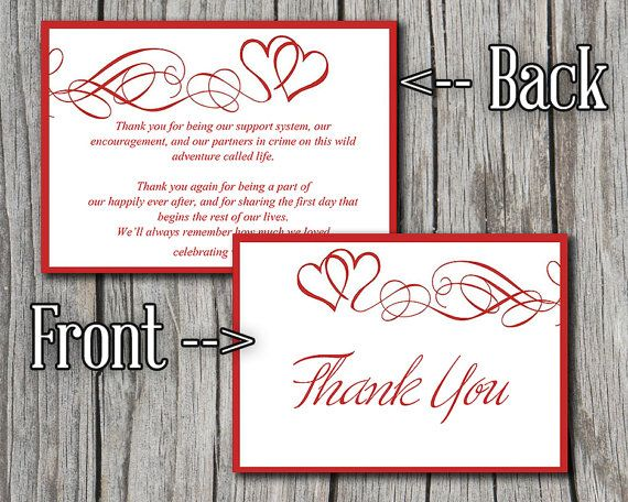 30 best Holiday Weddings images on Pinterest Wedding stuff - microsoft word thank you card template