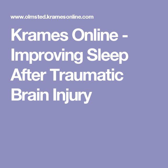 Krames Online - Improving Sleep After Traumatic Brain Injury