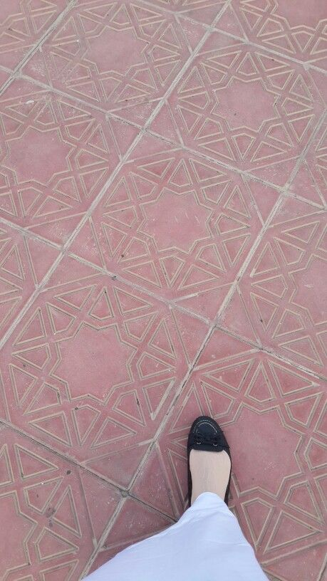 My footsteps at Masjid Ji'ronah, Makkah