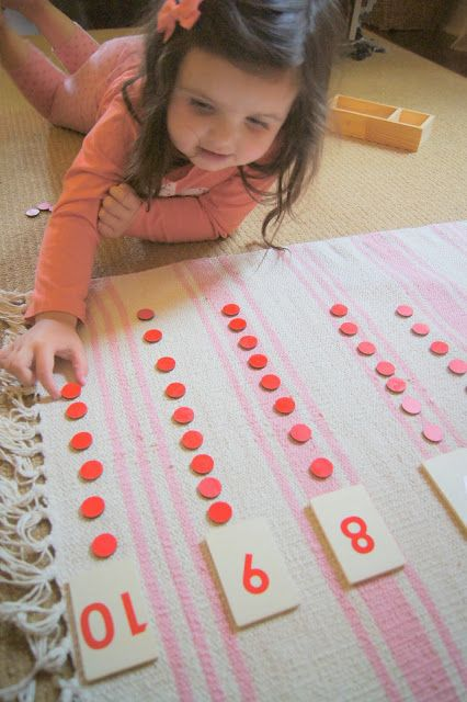 """""""Making Montessori Ours"""": Number Cards & Counters, Free Addition Board Printable"""