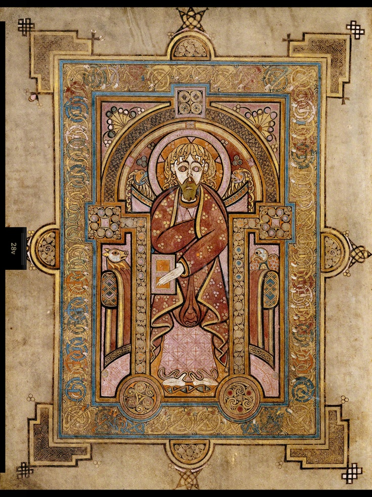 Portrait Of St Matthew The Book Of Kells Is Many Things
