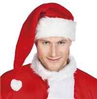 Noel Baba Şapkası, Delüks Uzun Kaliteli, uzun kukuletalı Noel Baba şapkası. Yetişkin kullanımına uygundur.