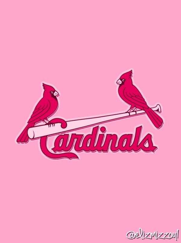 Pink #Cardinals iPhone background. Made by @Elizabeth Lockhart D