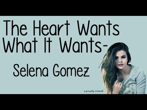 The Heart Wants What It Wants By Selena Gomez With Lyrics Original Audio (No Pitch) Comment Any Song Suggestions Below I Do Not Own This Song