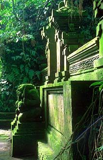 Bali Ubud Monkey Forest temple detail