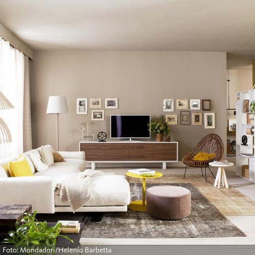offenes wohnzimmer ideen:from roomido retro wohnzimmer naturtöne wohnzimmer more living room