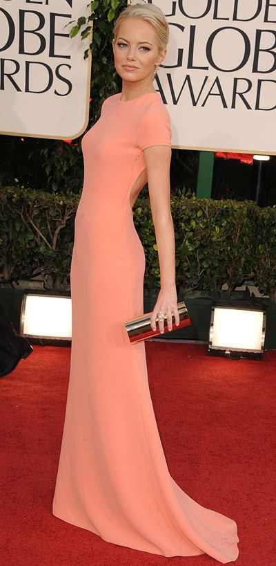 gorgeous.Calvin Klein, Style, Colors, Gowns, Calvinklein, Red Carpets, Golden Globes, The Dresses, Emma Stones
