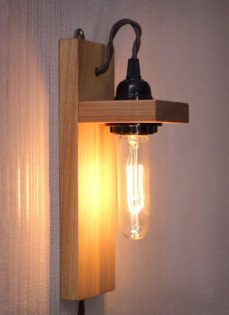 Wood lamp – Edison lamp – Sconce