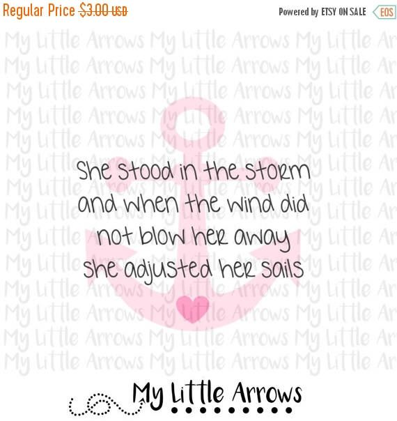 60% OFF SALE - Anchor quote SVG, Dxf, Eps, png Files for Cutting Machines Cameo or Cricut // anchor svg // adjusted her sails svg // cute sv by MyLittleArrows on Etsy https://www.etsy.com/listing/293877569/60-off-sale-anchor-quote-svg-dxf-eps-png