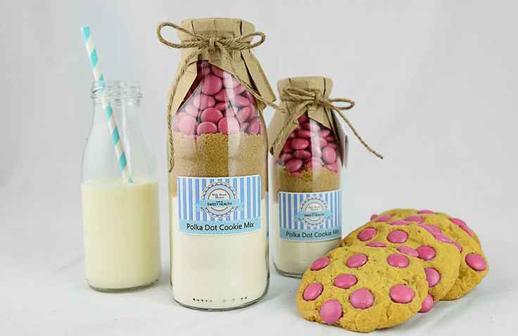 Polka Dot Cookie Mix Milk Bottle Mixers from Sweet Health http://www.sweethealth.com.au