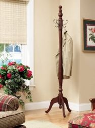 English Country Aged English Brown Coat Rack