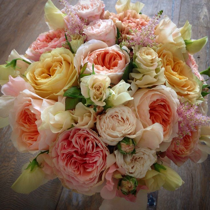 #brudbukett #davidaustin #rosor #roses #weddingbouqet
