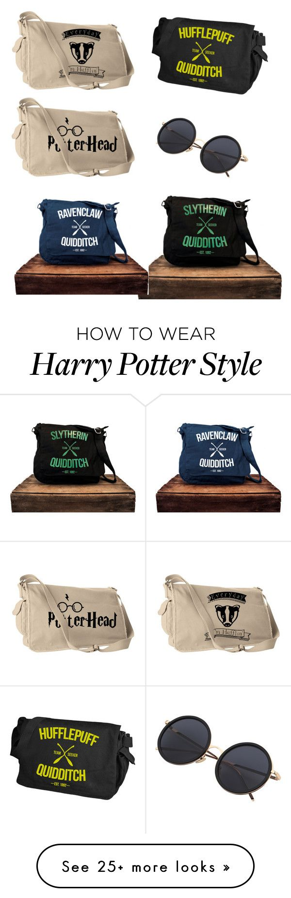 """""""Harry Potter  messenger bags"""" by holly-hills on Polyvore"""