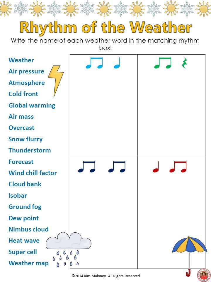 12 RHYTHM worksheets SET 4 Students are to match the name of the given words to the correct rhythm. Excellent for increasing vocabulary too!