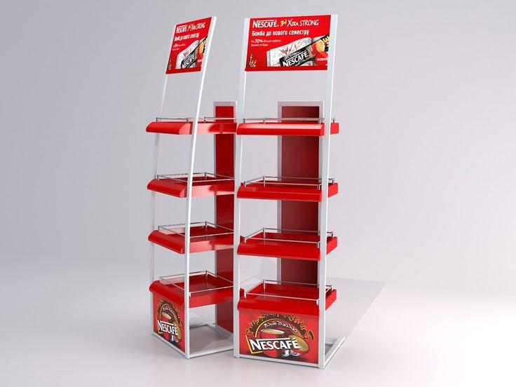 3D Модель торгово выставочного оборудования рекламных стоек ТМ Nescafe