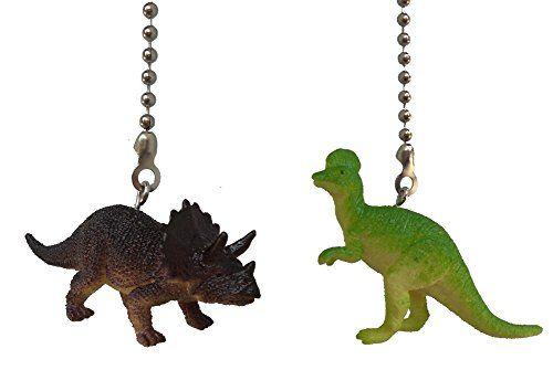 Dinosaur Ceiling Fan Pull Dino Themed Children Bedroom De...