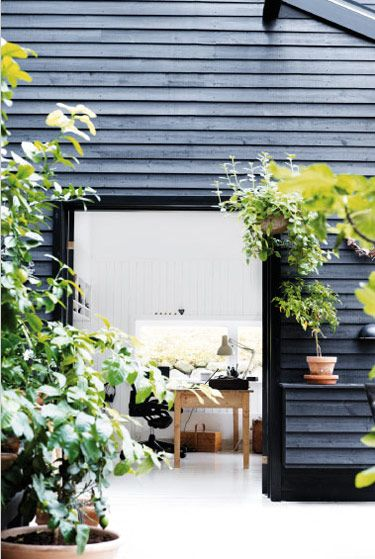 Beautiful Danish Summerhouse, love this black timber for my barn house