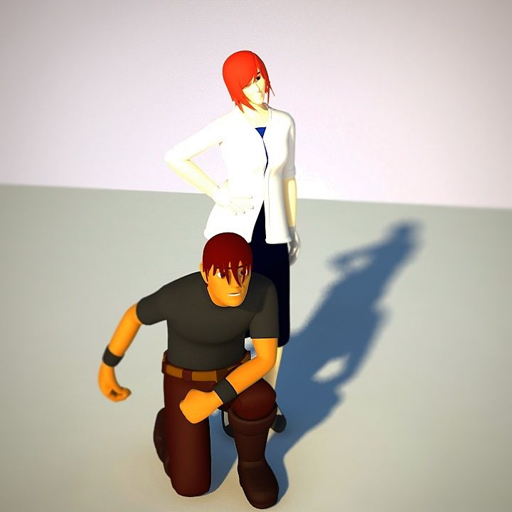 make two characters and style