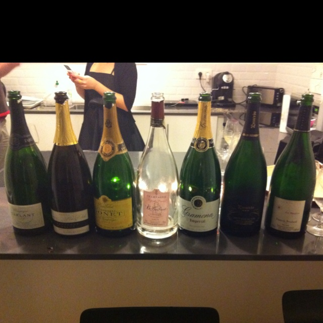 Empty bottles after a great #magicofthemagnumbubbles night in Brussels!