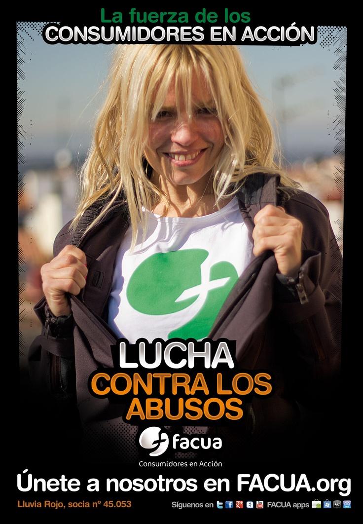 Lluvia Rojo, socia de FACUAnº 45.053, llama a los consumidores a la lucha contra los abusos