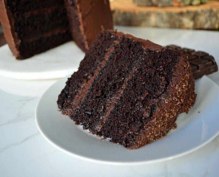 Love at First Sight Chocolate Cake by Modern Honey - www.modernhoney.com