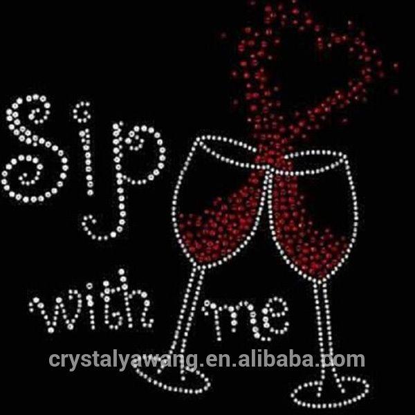 Kristal strass overdracht hotfix patroon ontwerp voor wijn t- shirt-afbeelding-strass steentjes-product-ID:60328429245-dutch.alibaba.com