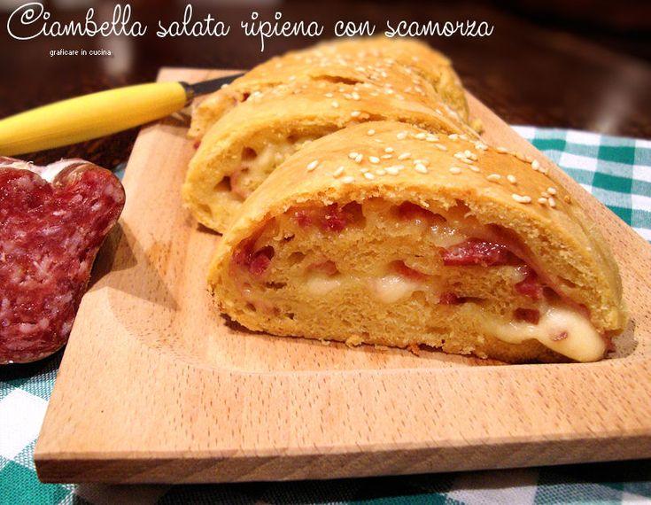 Ciambella salata ripiena con scamorza http://blog.giallozafferano.it/graficareincucina/ciambella-salata-ripiena-con-scamorza/