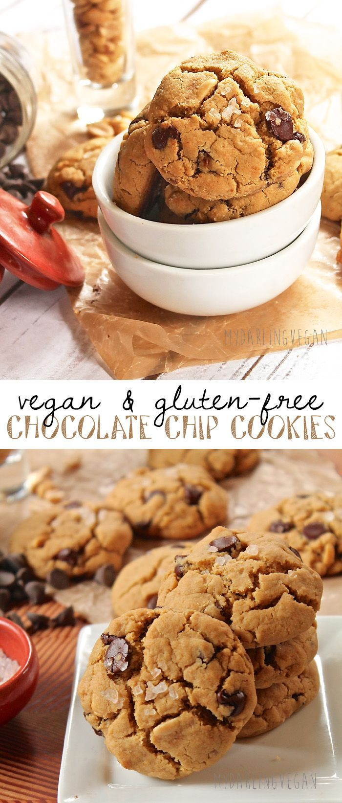 These vegan salted chocolate chip cookies are made with quinoa flour for a easy and delicious gluten-free version of this classic cookie. Click the picture for the full recipe.