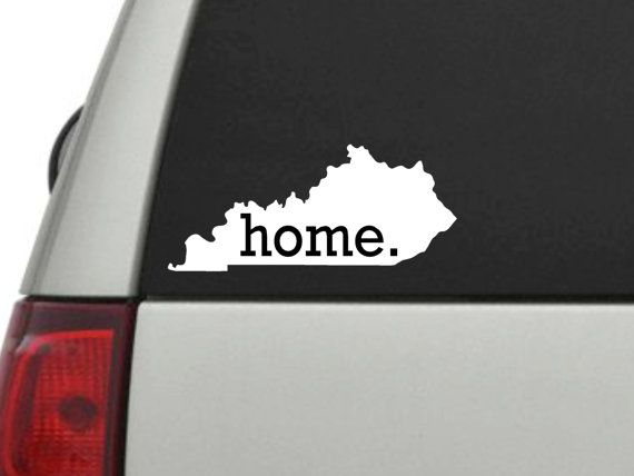 Kentucky Home Decal by SincerelySunshine00 on Etsy, $4.50